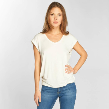 Only T-Shirty onlSannie Plain bialy