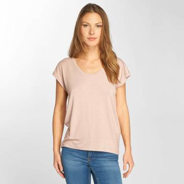 Only T-Shirty onlSannie Plain rózowy