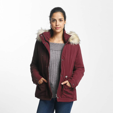 Only Winter Jacket onlStarlight Fur Parka red