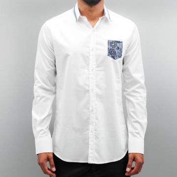 Open Camicia Flower bianco