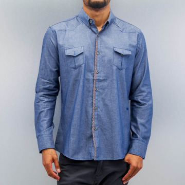 Open Shirt Breast Pocket blue