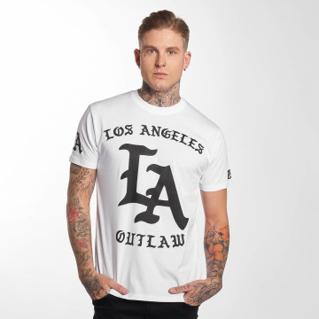 Outlaw T-Shirty Outlaw LA bialy