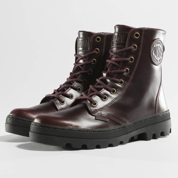 Palladium Boots Pallabosse Off Lea marrone