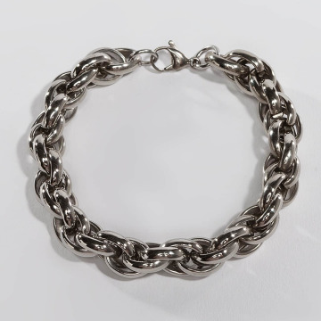 Paris Jewelry Bracelet Stainless Steel silver colored