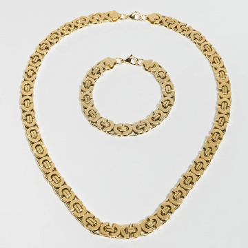 Paris Jewelry Collana Bracelet 22cm and Necklace 60cm oro
