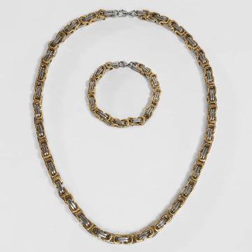Paris Jewelry ketting Bracelet 22cm and Necklace 60cm zilver