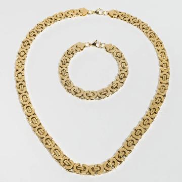Paris Jewelry Necklace Bracelet 22cm and Necklace 60cm gold