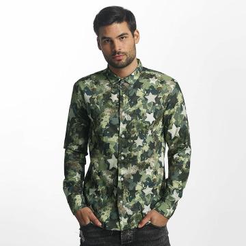 Paris Premium overhemd Camo groen