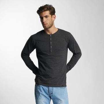 Paris Premium Pitkähihaiset paidat Basic Longsleeve harmaa