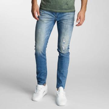 Paris Premium Straight Fit Jeans Dirt blå