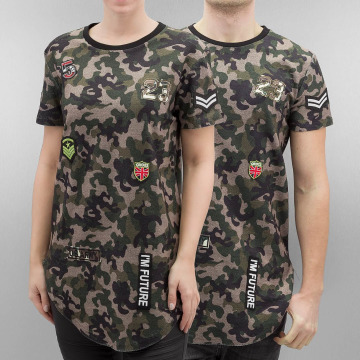 Paris Premium T-shirt long oversize Atlanta camouflage