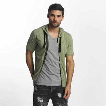 Paris Premium T-Shirty Zip khaki