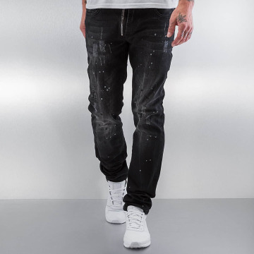 Pascucci Straight Fit Jeans Patt svart