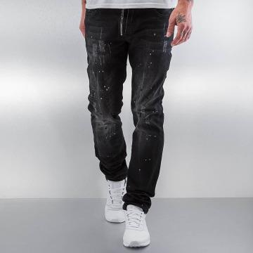 Pascucci Straight fit jeans Patt zwart