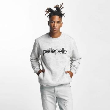 Pelle Pelle Pullover Back 2 Basics Crew Neck gray