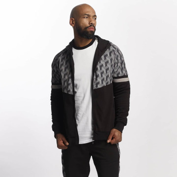 Pelle Pelle Sweatvest Blockparty zwart