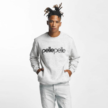 Pelle Pelle Swetry Back 2 Basics Crew Neck szary