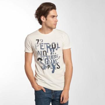 Petrol Industries T-paidat Dave valkoinen