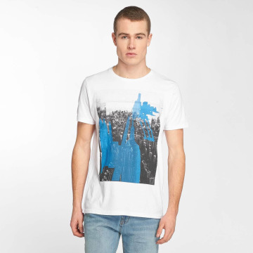 Petrol Industries T-Shirty Manhatten bialy