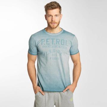 Petrol Industries T-Shirty 73 niebieski