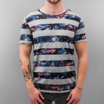 Petrol Industries T-Shirty Stripes szary