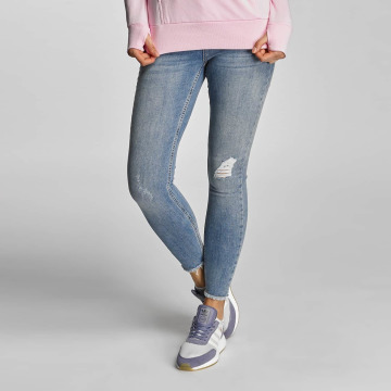 Pieces Облегающие джинсы PCJust New Delly Cropped синий