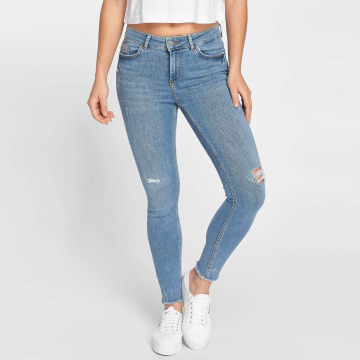 Pieces Облегающие джинсы pcFive синий