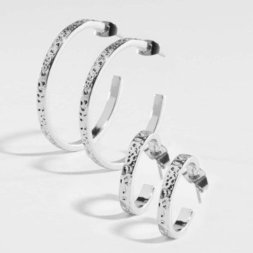 Pieces Boucles d'oreilles pcKasta argent
