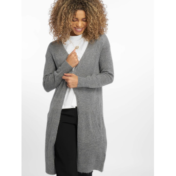 Pieces Cardigan pcJane Long Wool grey