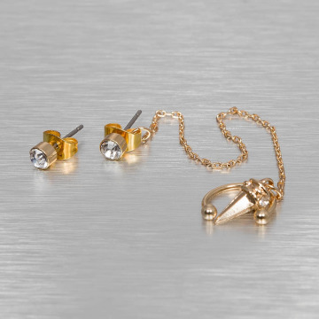Pieces Earring pcRona gold colored