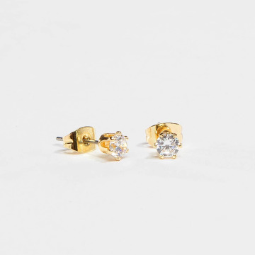 Pieces Earring pcKelly Basic gold colored