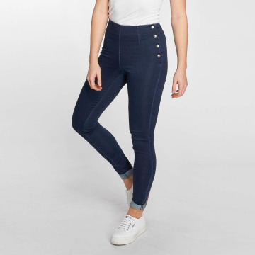 Pieces High Waisted Jeans pcSkin синий