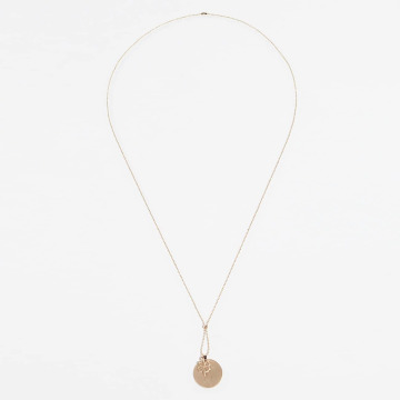 Pieces Necklace pcTril gold colored
