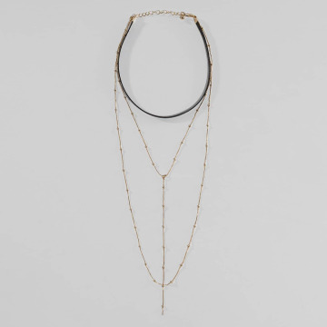 Pieces Necklace pcNanna gold colored
