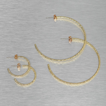 Pieces oorbel PCDenize goud