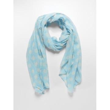 Pieces sjaal Kvillas Long blauw