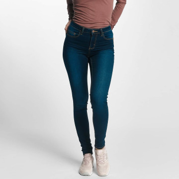 Pieces Skinny Jeans pcFive Bettysoft Mid Waist blau