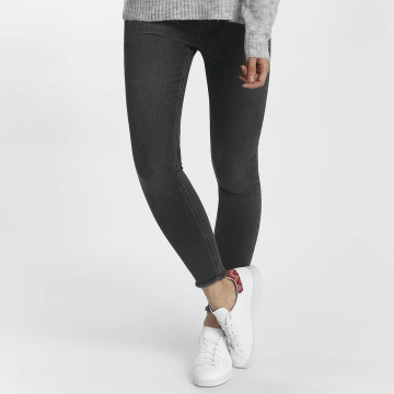 Pieces Skinny Jeans pcFive Delly grau