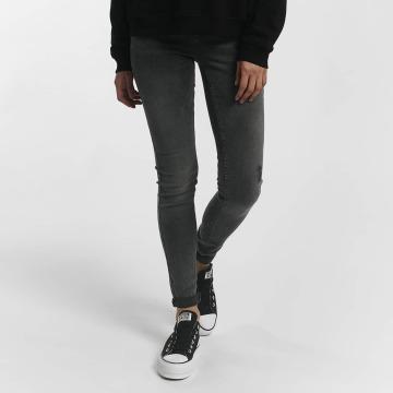 Pieces Skinny jeans pcFive Delly grijs