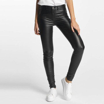 Pieces Skinny Jeans pcSkin Betty Coated schwarz