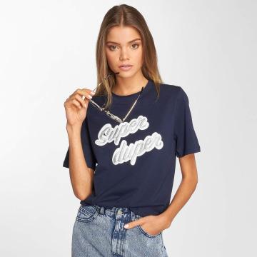 Pieces T-shirts pcGytha blå
