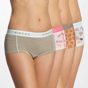 Pieces Underwear pcLogo 4-Pack hvit