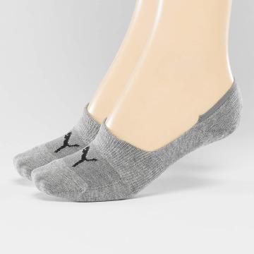 Puma Носки 2-Pack Footies серый