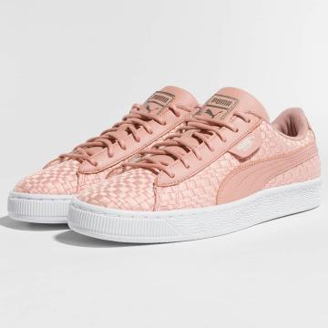 Puma Сникеры Basket Satin EP розовый