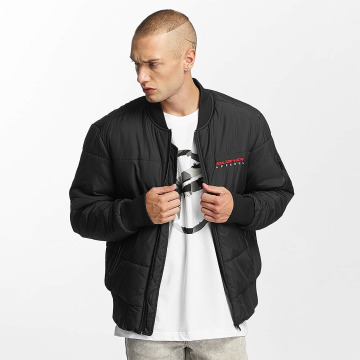 Pusher Apparel Bomberjack Quilted Bomber zwart
