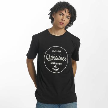 Quiksilver T-Shirt Classic Morning Slides schwarz
