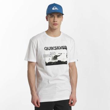 Quiksilver T-Shirt Classic Black Horizon weiß