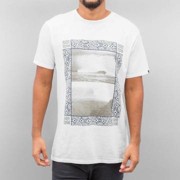 Quiksilver t-shirt Slub Split Screen wit