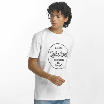 Quiksilver T-Shirty Classic Morning Slides bialy
