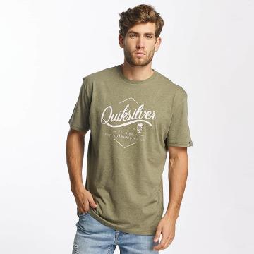 Quiksilver T-Shirty Classic Sea Tales oliwkowy